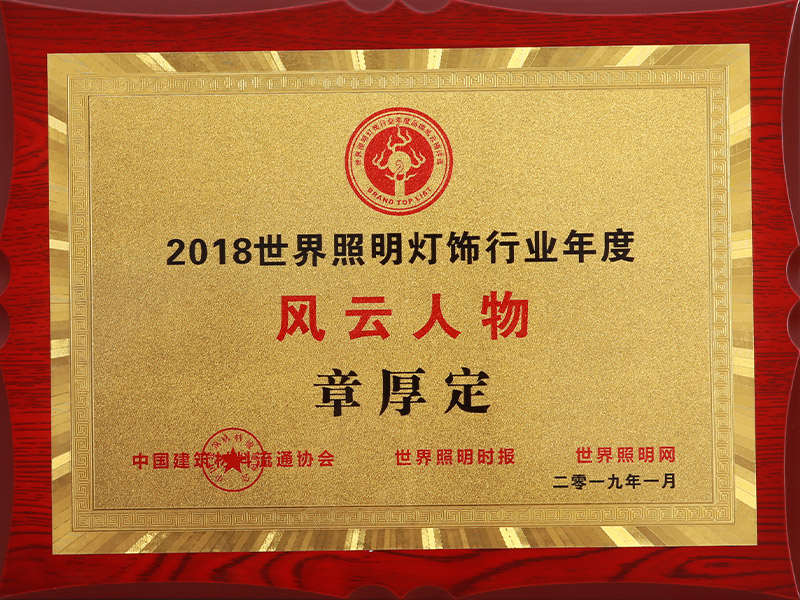 2018世界新利18app体育灯饰行业年度风云人物